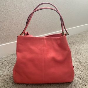 COACH Large Phoebe in pink/coral
